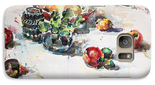Galaxy Case featuring the painting Watercolor Still Life In April by Becky Kim