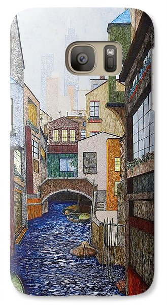 Galaxy Case featuring the painting Watered World by A  Robert Malcom