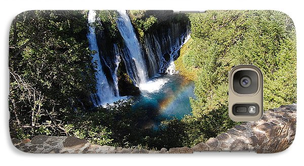 Galaxy Case featuring the photograph Waterfall And Rainbow 3 by Debra Thompson