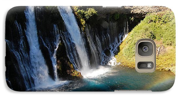 Galaxy Case featuring the photograph Waterfall And Rainbow 4 by Debra Thompson
