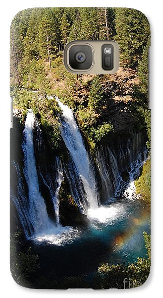 Galaxy Case featuring the photograph Waterfall And Rainbow by Debra Thompson