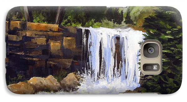 Galaxy Case featuring the painting Waterfall by Carol Hart