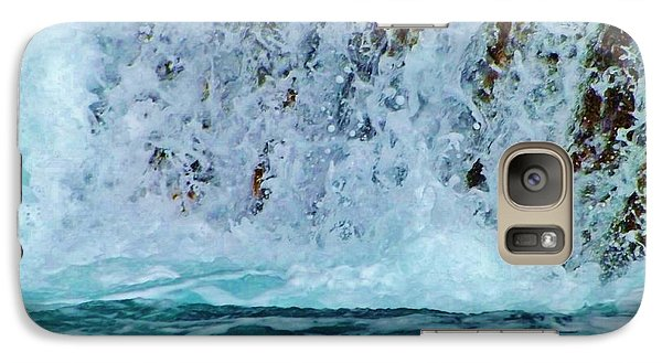 Galaxy Case featuring the photograph Waterfall Closeup by Brigitte Emme