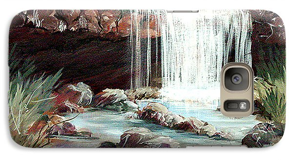 Galaxy Case featuring the painting Waterfall by Dorothy Maier