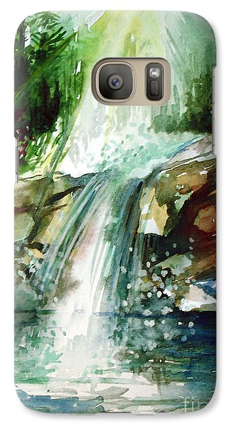 Galaxy Case featuring the painting Waterfall Expression by Allison Ashton