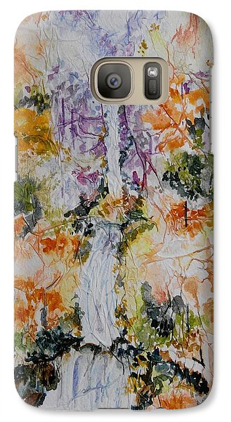 Galaxy Case featuring the painting Waterfall In Forest by Geeta Biswas