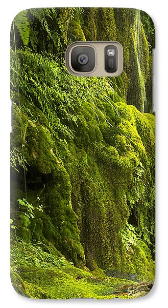 Galaxy Case featuring the photograph Waterfall In Green by Bryan Keil
