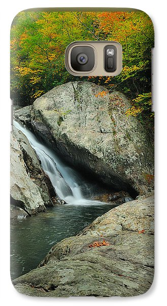 Waterfall In West Fork Of Pigeon River Galaxy S7 Case