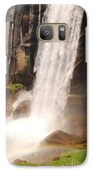 Galaxy Case featuring the photograph Waterfall Rainbow by Mary Carol Story