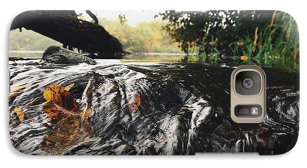Galaxy Case featuring the photograph Waterfalls Beginnning by Nikki McInnes