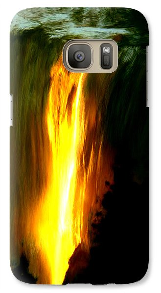 Galaxy Case featuring the painting Waterfalls By Light by Bruce Nutting