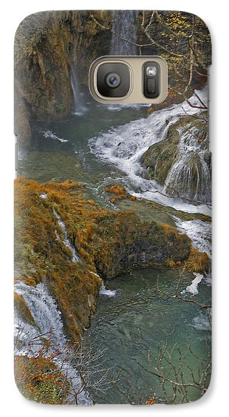 Galaxy Case featuring the photograph Waterfalls Connecting Plitvice Lakes by Joan McArthur