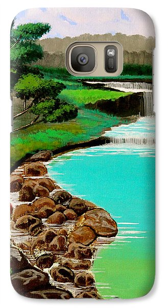 Galaxy Case featuring the painting Waterfalls by Cyril Maza