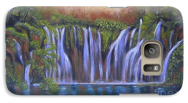Galaxy Case featuring the painting Waterfalls - Plitvice Lakes by Vesna Martinjak