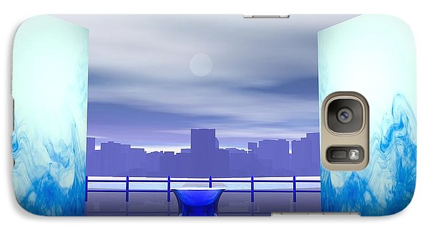 Galaxy Case featuring the digital art Waterfront by John Pangia