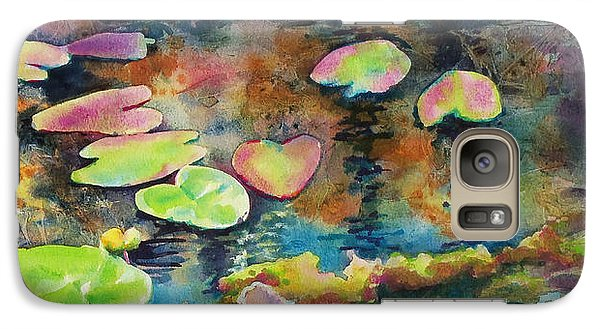 Galaxy Case featuring the painting Waterlilies In Shadow by Kathy Braud
