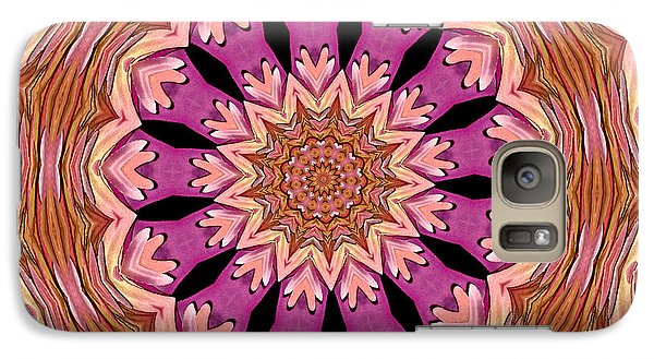 Galaxy Case featuring the photograph Waterlily Flower Kaleidoscope 2 by Rose Santuci-Sofranko