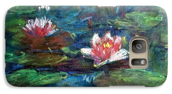 Galaxy Case featuring the painting Waterlily In Water by Jieming Wang