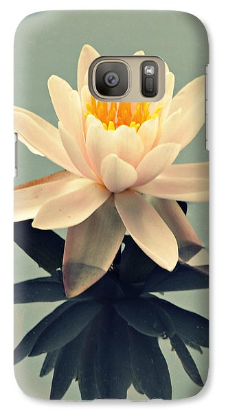 Galaxy Case featuring the photograph Waterlily On Glass by Mary Zeman