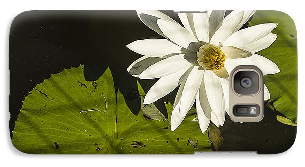 Galaxy Case featuring the photograph Waterlily Through A Fence by Terry Rowe