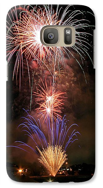 Galaxy Case featuring the photograph Waterloo Fireworks by Christopher McKenzie