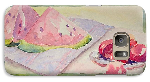 Galaxy Case featuring the painting Watermelon by Marilyn Zalatan