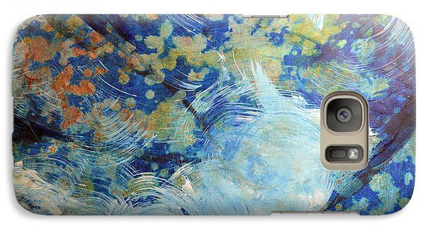 Galaxy Case featuring the painting Water's Edge Flow by John Fish