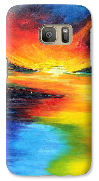 Galaxy Case featuring the painting Waters Of Home by Meaghan Troup