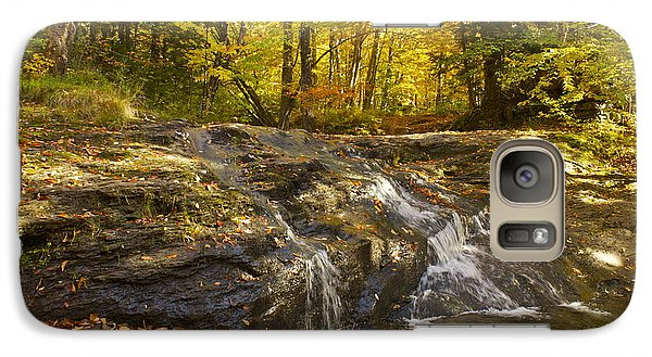 Galaxy Case featuring the photograph Waterville Waterfall Revisited by Alice Mainville