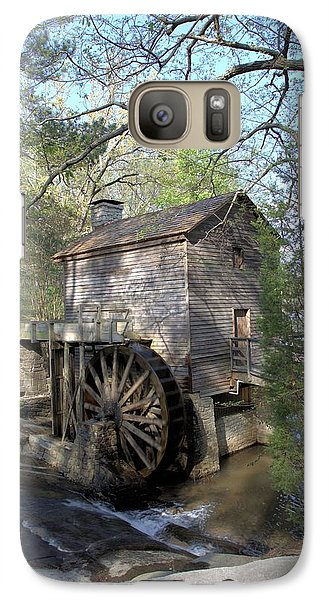 Galaxy Case featuring the photograph Waterwheel At Stone Mountain by Gordon Elwell