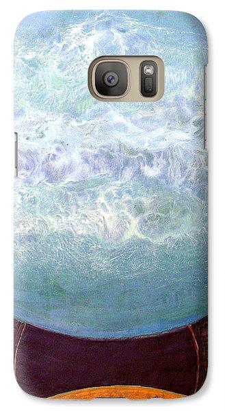 Galaxy Case featuring the painting Waterworld by Carolyn Goodridge