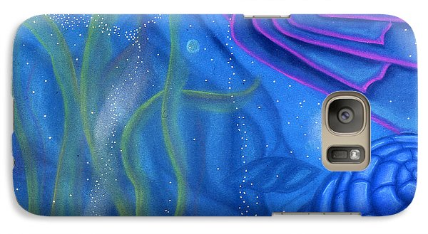 Galaxy Case featuring the pastel Watery by Susan Will