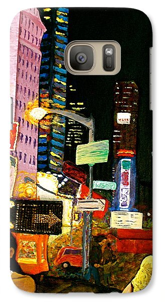 Galaxy Case featuring the painting Wattage by D Renee Wilson