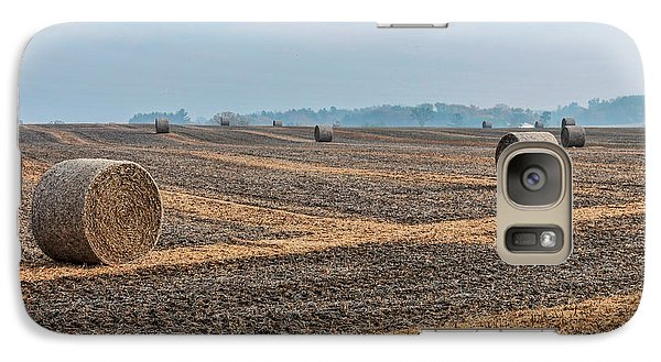 Galaxy Case featuring the photograph Waupaca Straw Rolls by Trey Foerster