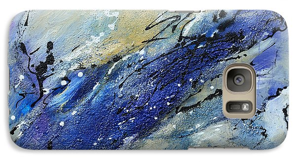 Galaxy Case featuring the painting Wave - Abstract Art by Ismeta Gruenwald