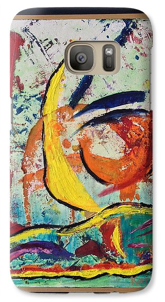 Galaxy Case featuring the painting Wave Action by Karin Eisermann