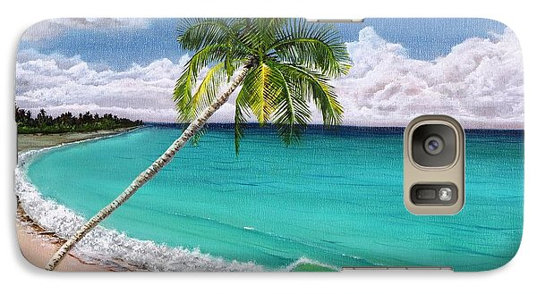 Galaxy Case featuring the painting Wave Break Beach by Kevin F Heuman