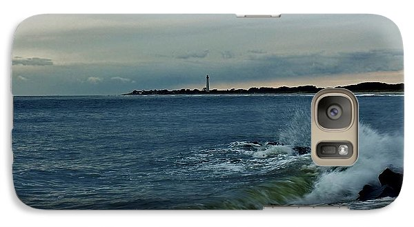 Galaxy Case featuring the photograph Wave Crashing At Cape May Cove by Ed Sweeney