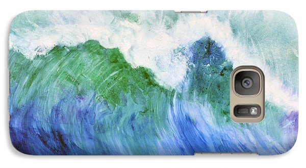 Galaxy Case featuring the painting Wave Dream by Joan Hartenstein
