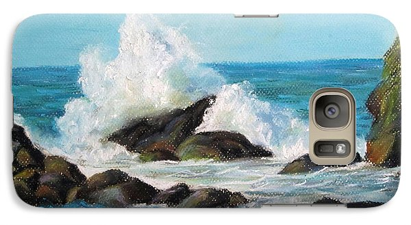 Galaxy Case featuring the painting Wave by Jieming Wang