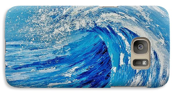 Galaxy Case featuring the painting Wave by Katherine Young-Beck