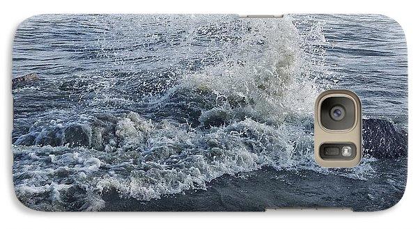 Galaxy Case featuring the photograph Wave Splash by Nikki McInnes