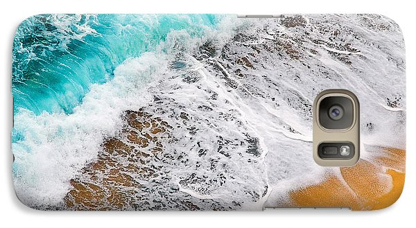 Waves Abstract Galaxy S7 Case by Silvia Ganora