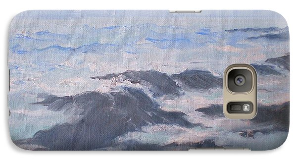 Galaxy Case featuring the painting Waves And Rocks by Suzanne McKay