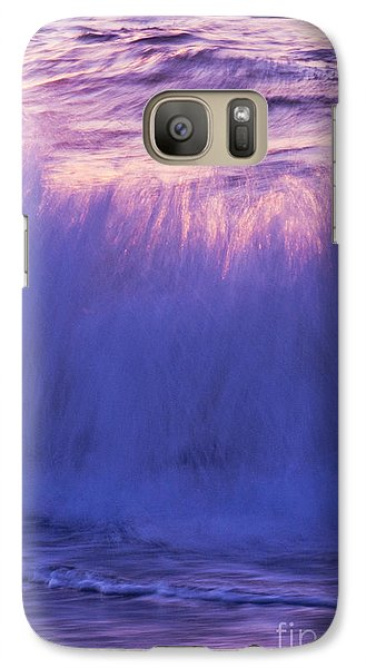 Galaxy Case featuring the photograph Waves At Sunset by Serene Maisey