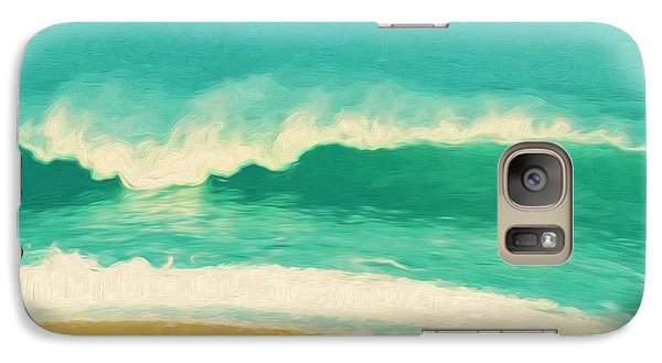 Galaxy Case featuring the painting Waves by Douglas MooreZart