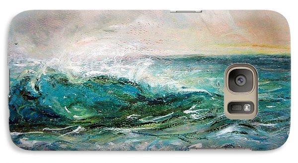 Galaxy Case featuring the painting Waves by Jieming Wang