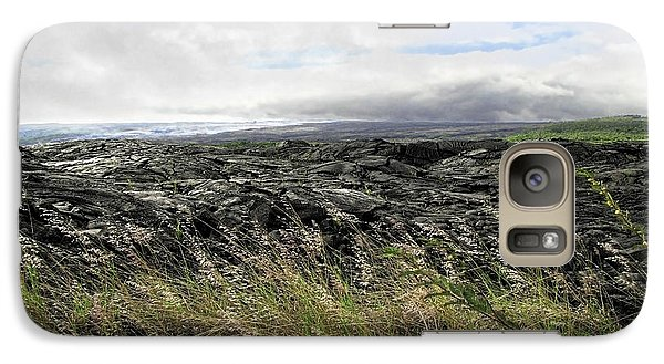 Galaxy Case featuring the photograph Waves Of Clouds Sea Lava And Grass by Ellen Cotton