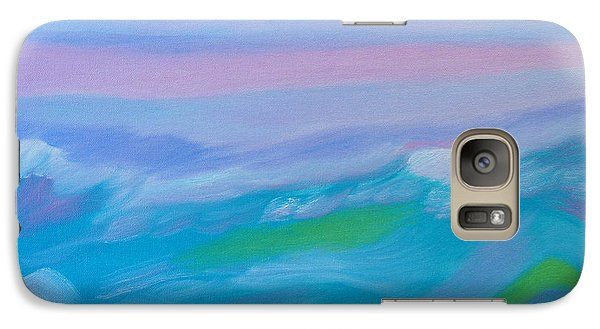 Galaxy Case featuring the painting Waves Of Imagination by Meryl Goudey
