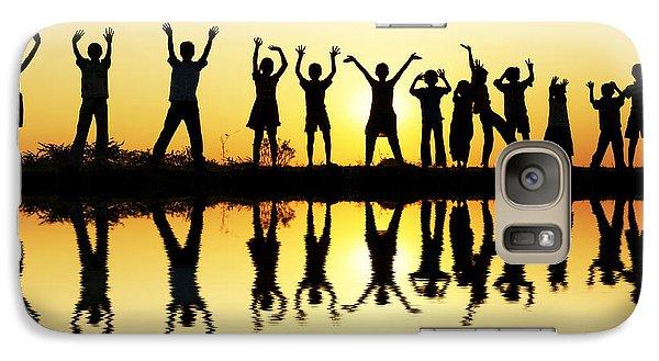 Waving Children Galaxy S7 Case